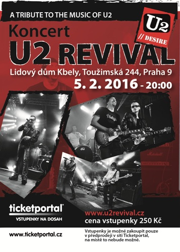 U2 DESIRE REVIVAL BAND NA TICKETPORTAL.CZ