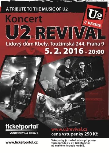 U2 DESIRE REVIVAL BAND NA TICKETPORTAL.CZ