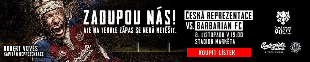 Česká reprezentace x Barbarian FC