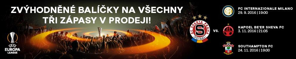 AC Sparta Praha - Balíček Evropské ligy