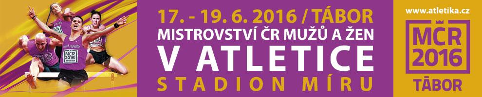 Mistrovství ČR v atletice 2016 - Tábor