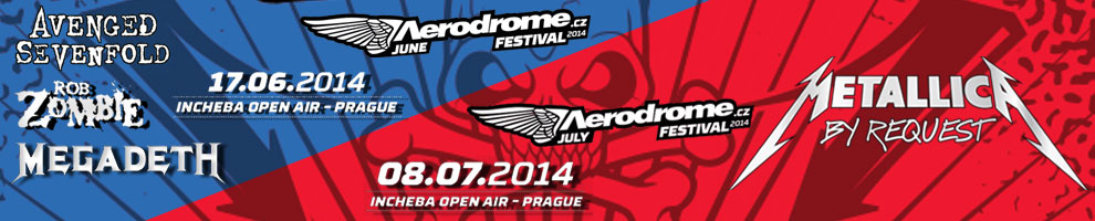 AERODROME FESTIVAL JUNE AVENGED SEVENFOLD / JULY METALICA
